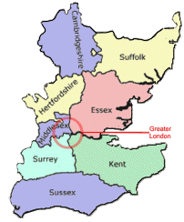 map showing suppply and fit areas; Essex, Hertfordshire, London, Kent, Surrey, Sussex, Suffolk and Cambridgeshire